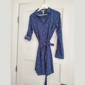 Black and blue tunic